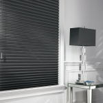 Alustra® Duette® Architella® honeycomb shades in a Den