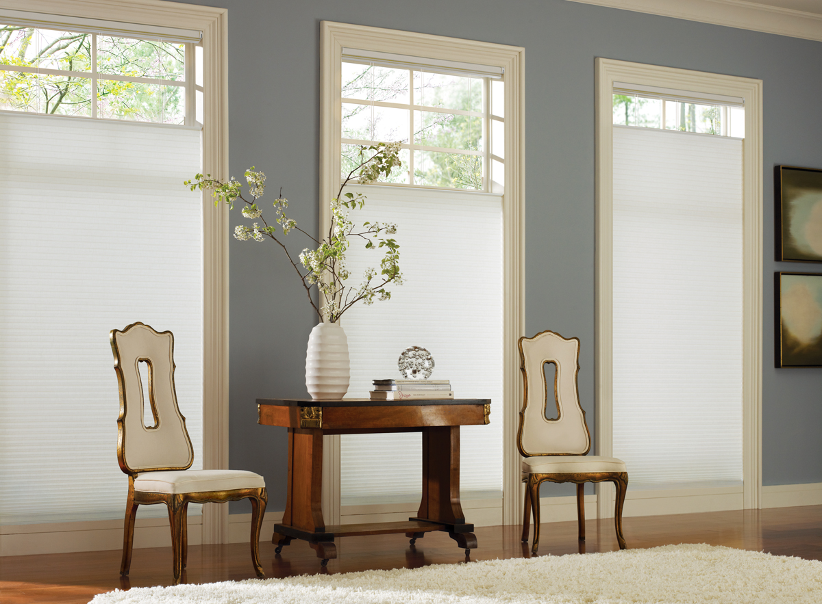 Superieur Duette® Architella® Honecomb Shades In A Living Room