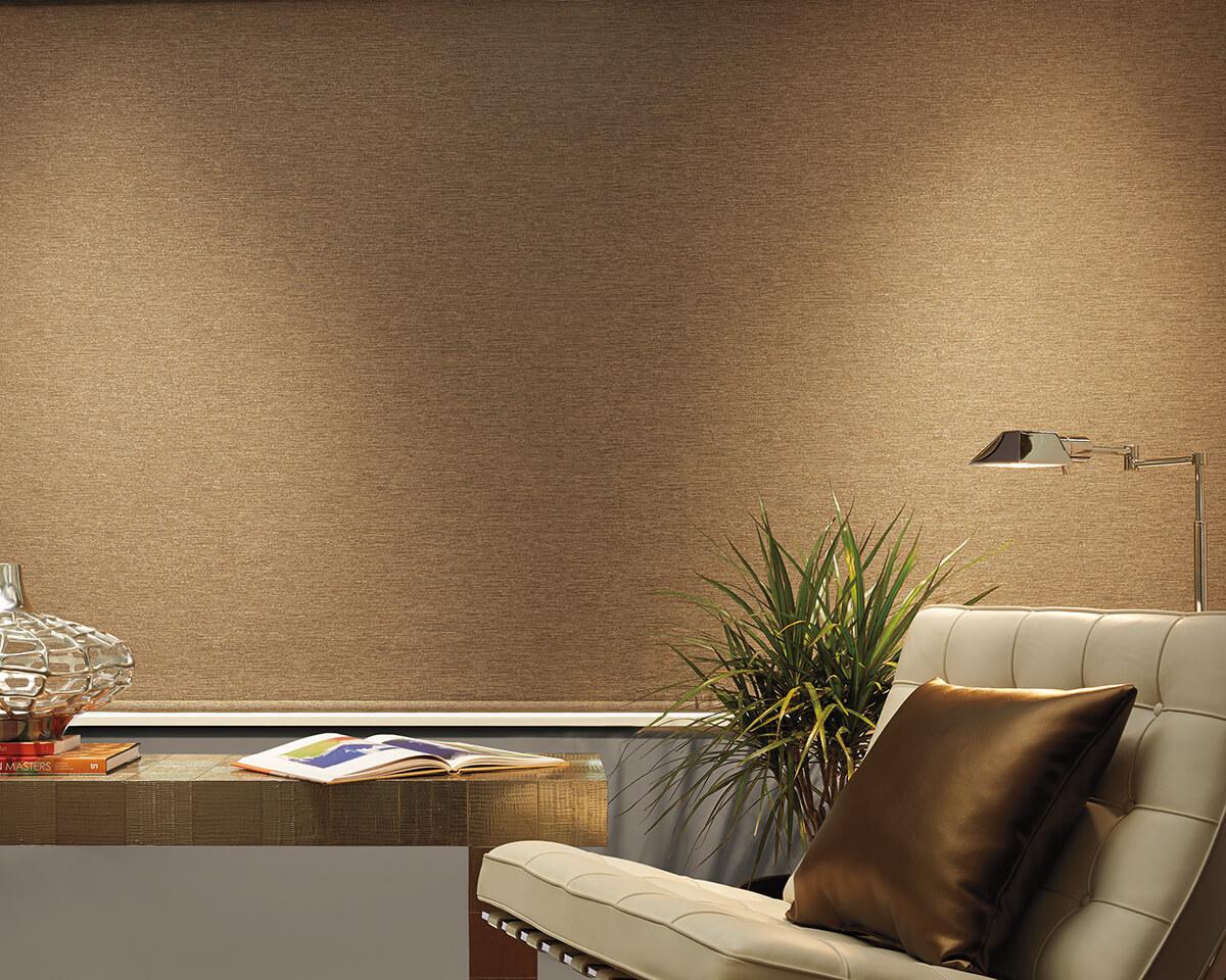designer roller shades in sitting room