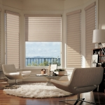 Pirouette® window shadings in a Living Room