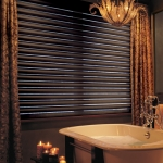 Pirouette® window shadings in a Bathroom