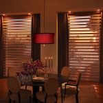 Pirouette® window shadings in a Dining Room