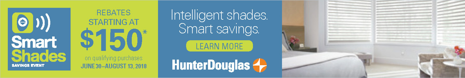 2018 Smart Shades Savings Event from Hunter Douglas for Homes in Charlotte, North Carolina (NC)