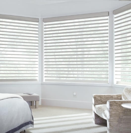 Pirouette Shutters for 2018 Smart Shades Savings Event from Hunter Douglas for Homes in Charlotte, North Carolina (NC)