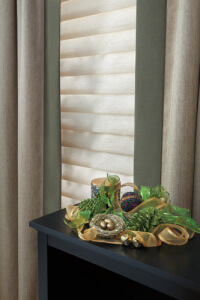 Vignette® Modern Roman Shades in the Living Room