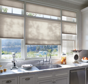 Duette® Honeycomb Shades with Top-Down/Bottom-Up in the Kitchen