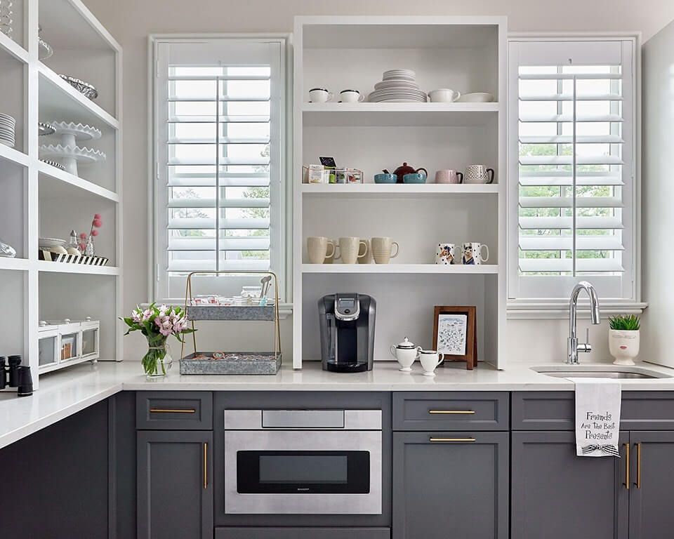 Artisan Shutters by A Shade Above for Kitchens in Charlotte, North Carolina (NC)