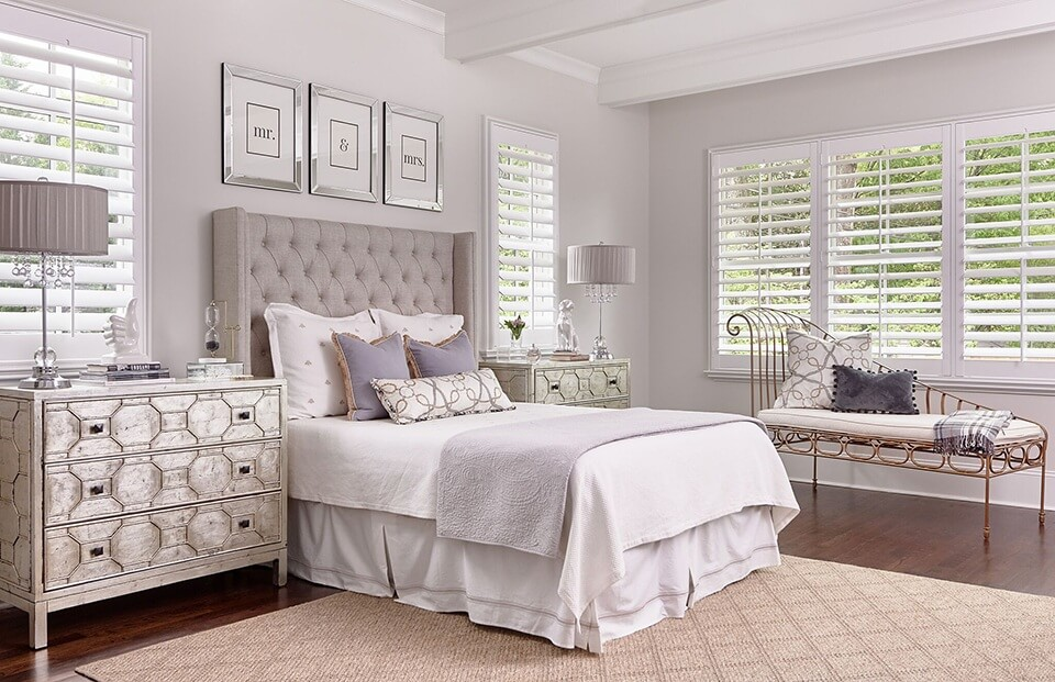 Artisan Shutters by A Shade Above for Bedrooms in Charlotte, North Carolina (NC)