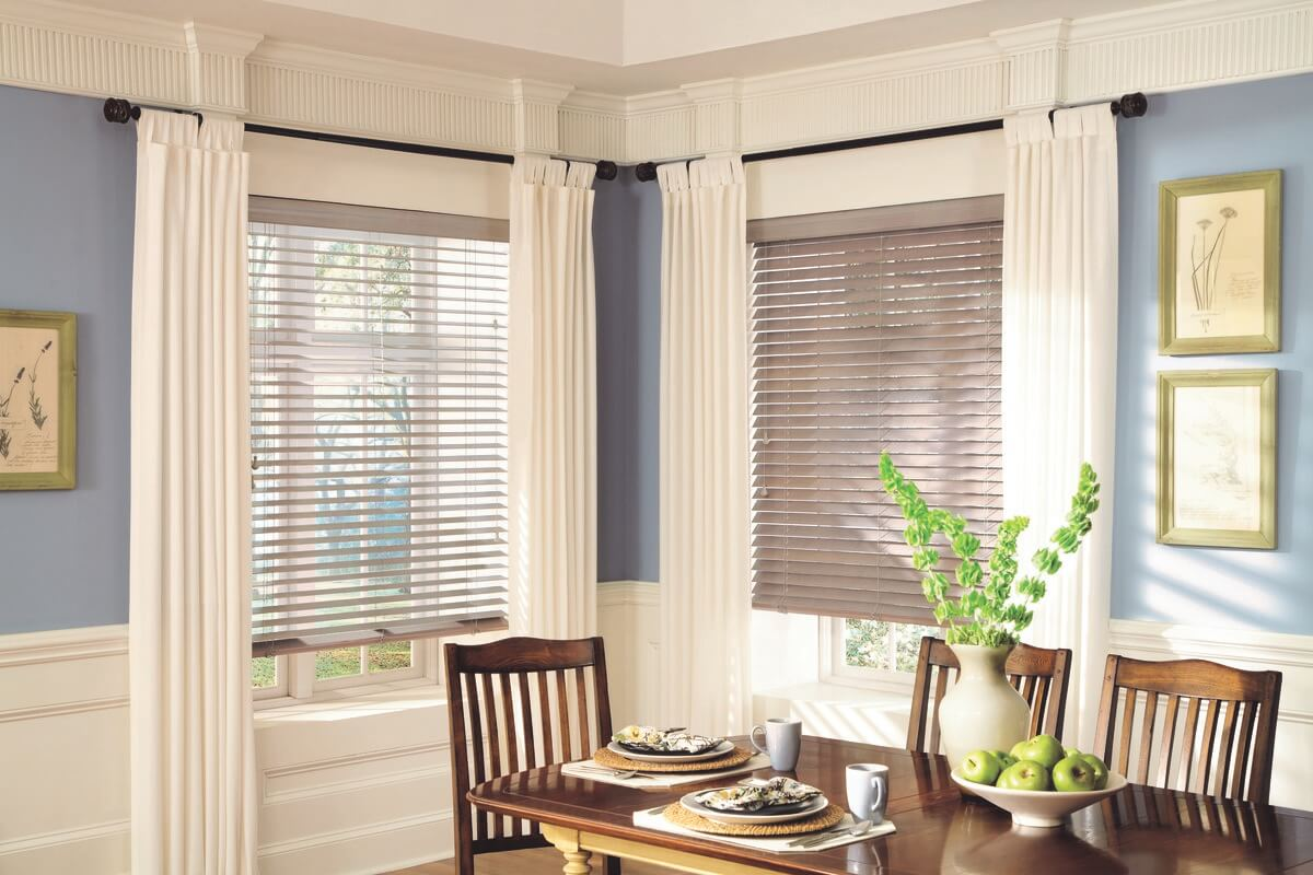 wood blinds in Charlotte, NC homes