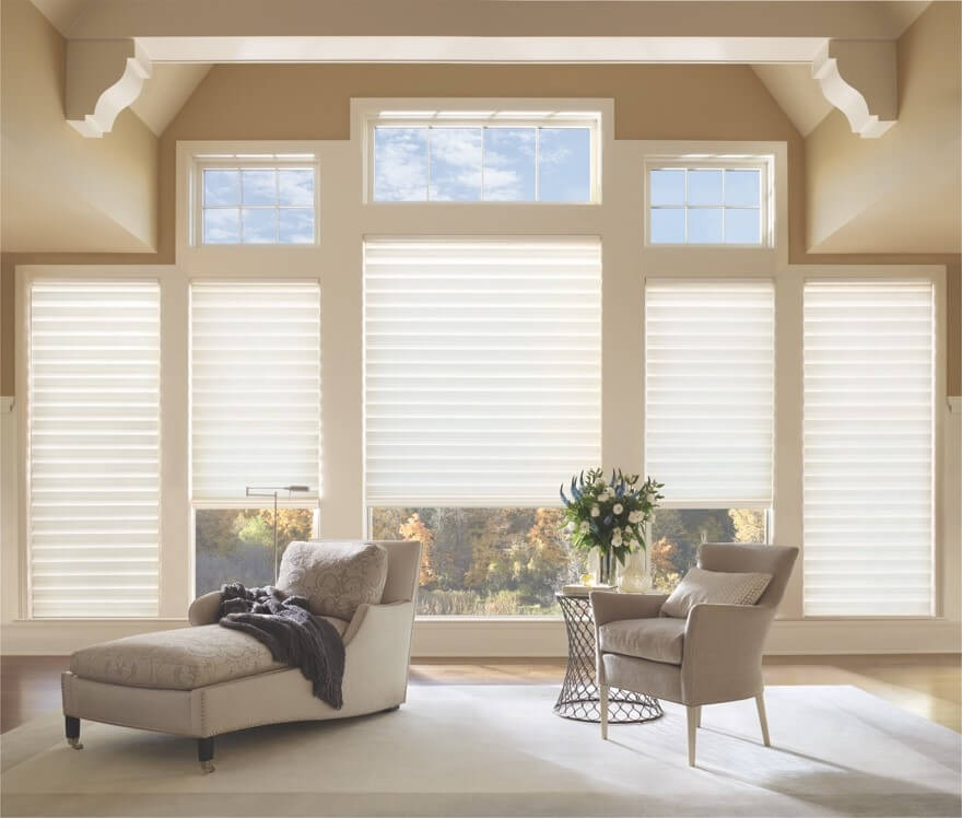 custom roman shades in Charlotte, NC homes