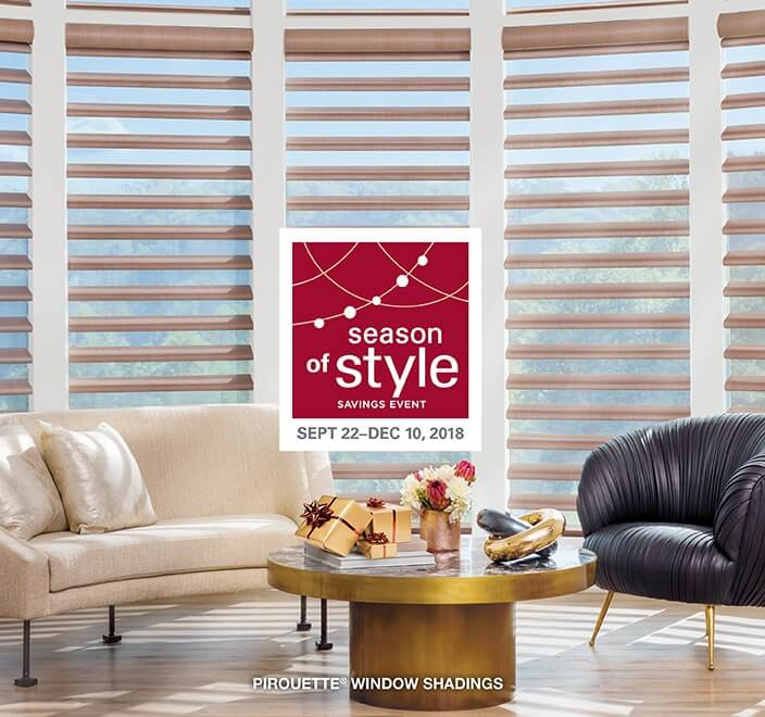 Hunter Douglas Season of Style Vignette Modern Roman Shades in Charlotte, North Carolina (NC)