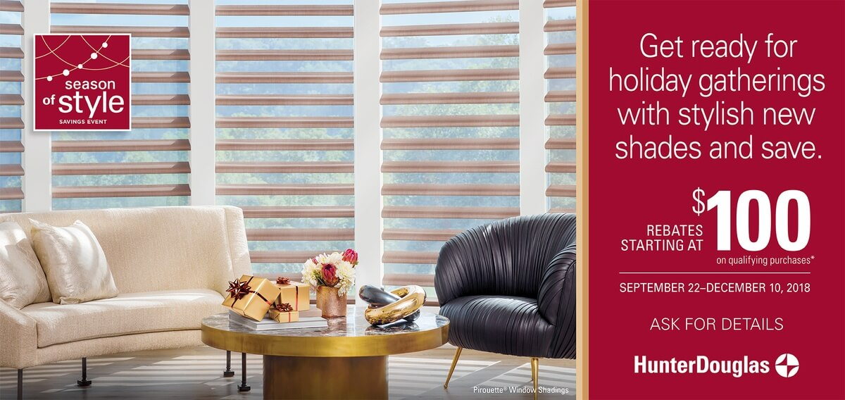 Hunter Douglas Season of Style Pirouette Shades Promotion in Charlotte, North Carolina (NC)