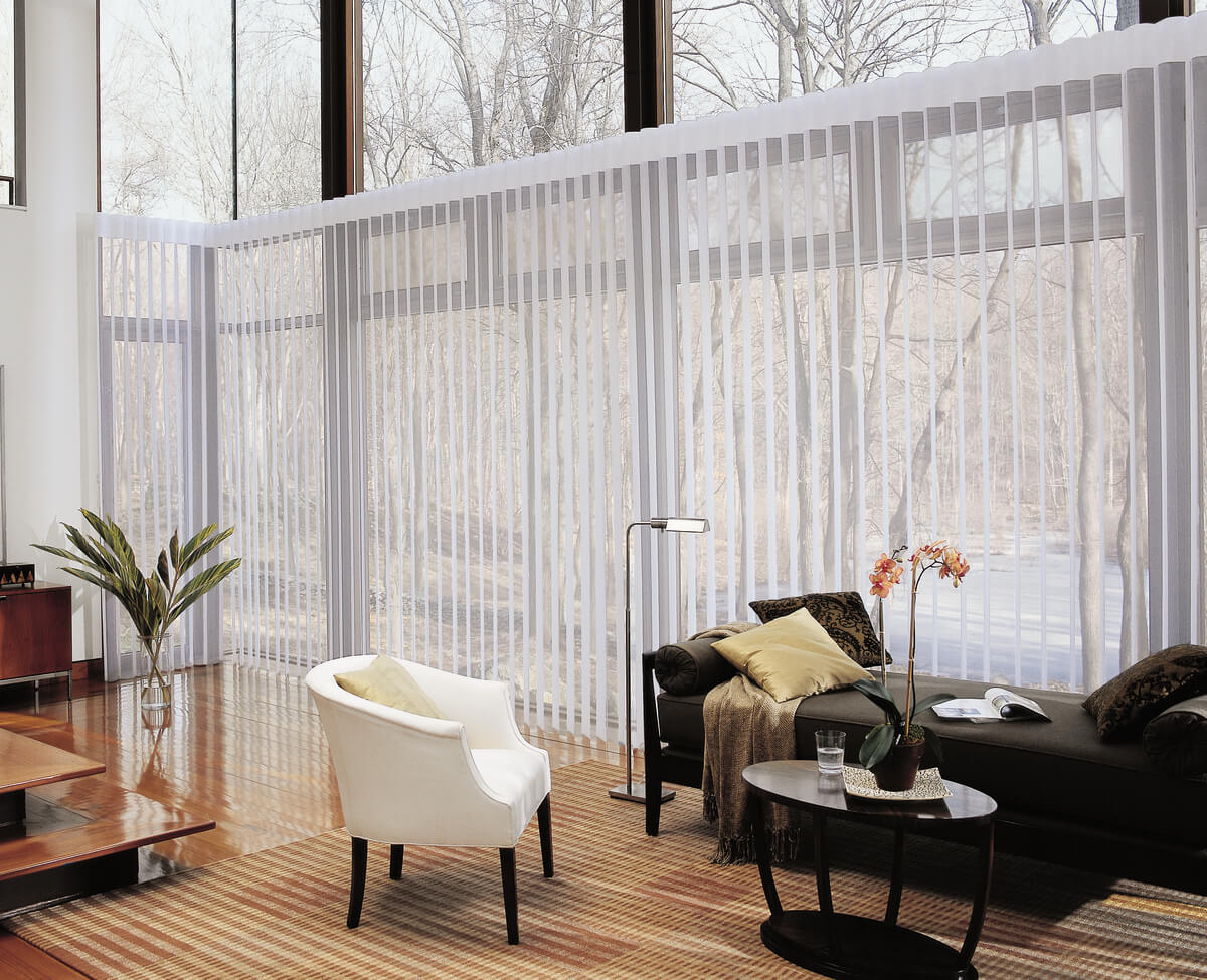 Amazing Drapery Alternatives for Homes in Charlotte, NC like Luminette Privacy Sheers for living rooms